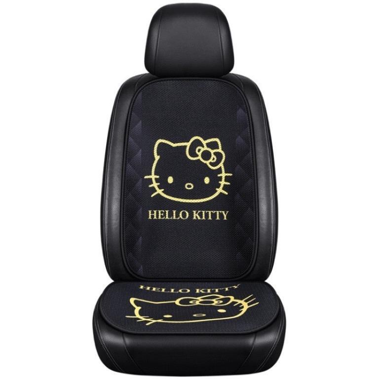 🇹🇼台灣現貨⚡️火速寄出🔥 Kitty 三麗鷗 加菲貓 冰絲 靠背 車用 坐墊 免綑綁 汽車 透氣 蜂窩
