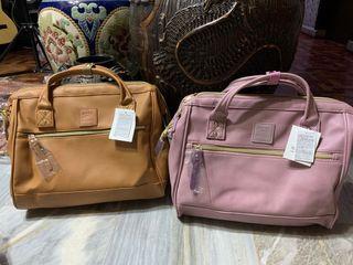 Anello pu leather sling boston bag