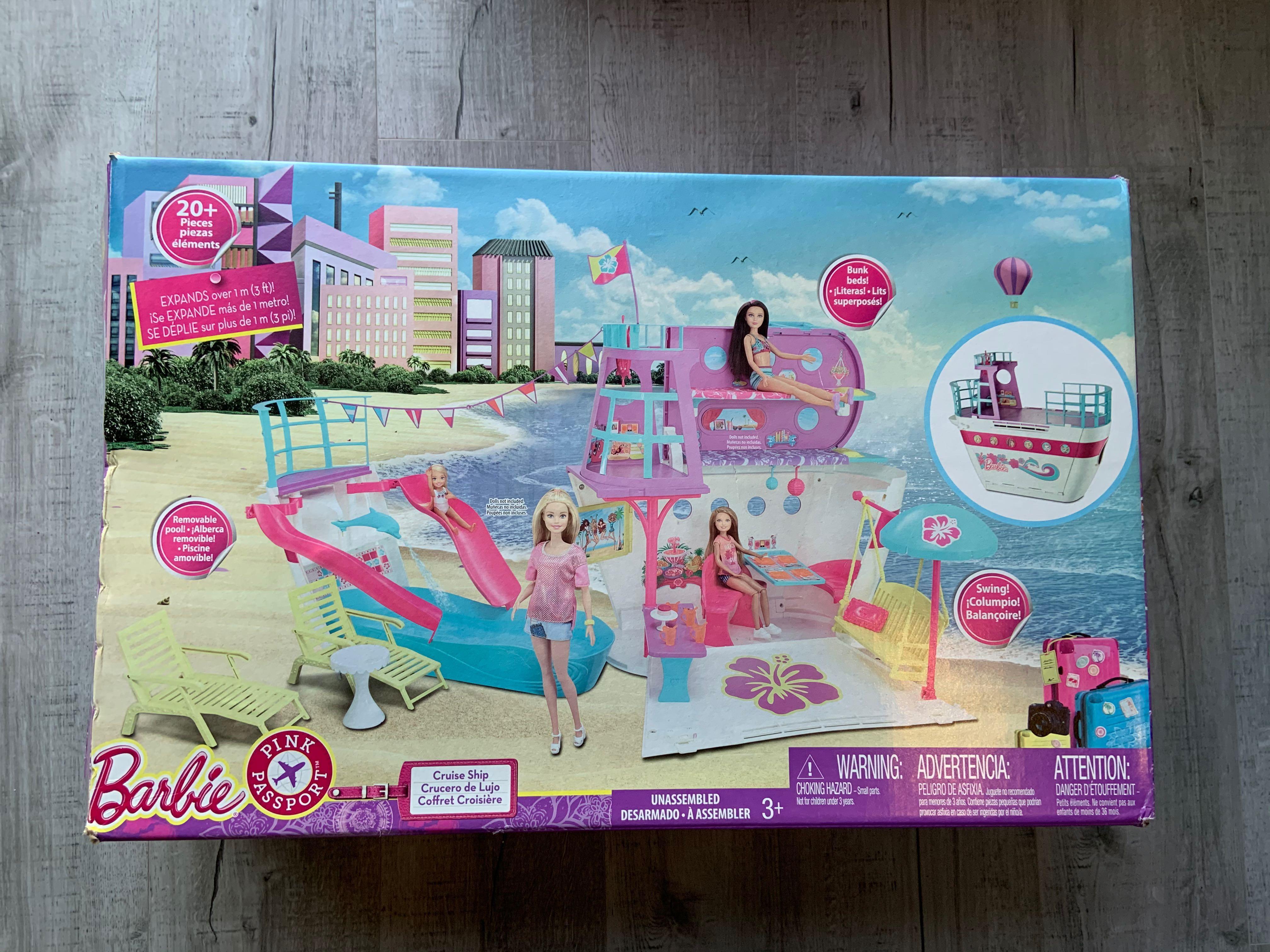 Barbie Pink Passport Cruise Ship Play Set
