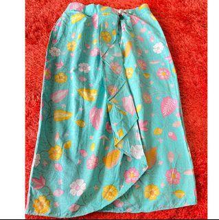 Batik skirt wedding tosca pink - rok batik nikahan