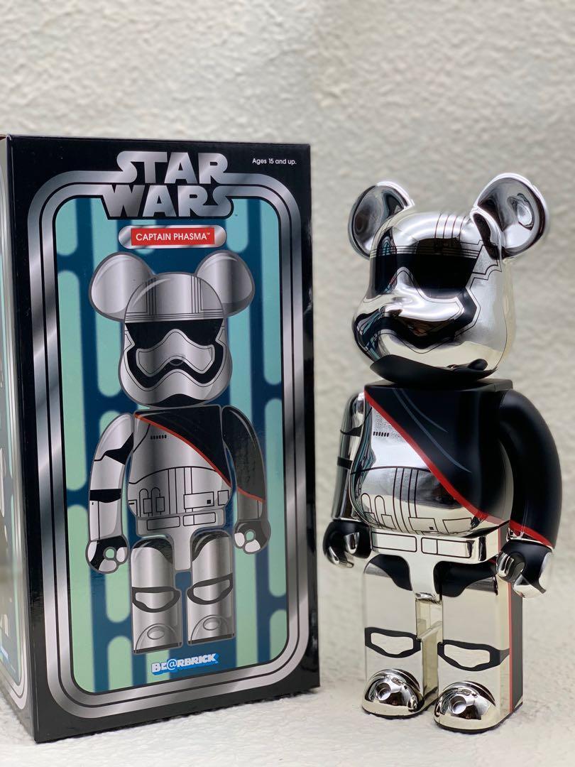 Bearbrick Star Wars Captain Phasma Chrome 400%