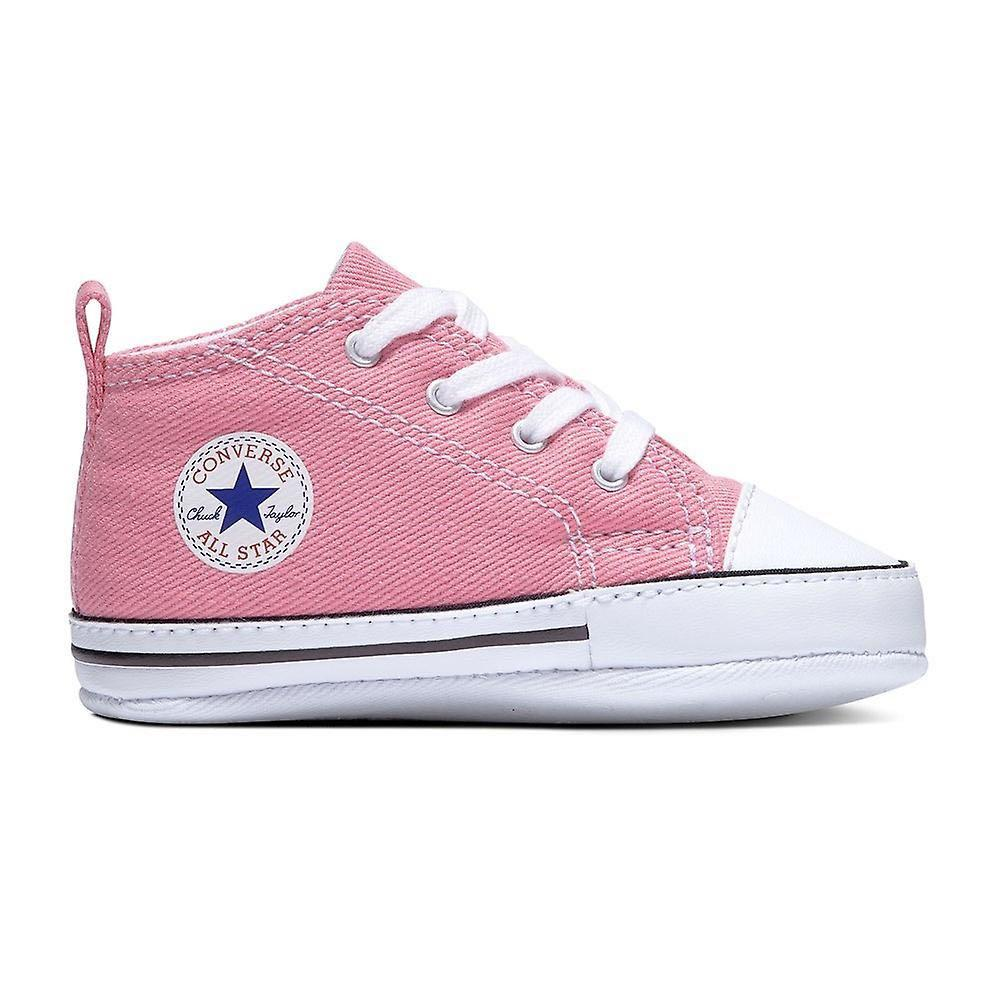 adverbio carne empeorar  Converse Chuck Taylor First Star Baby Infant Pink Sneakers Shoes, Babies &  Kids, Babies Apparel on Carousell