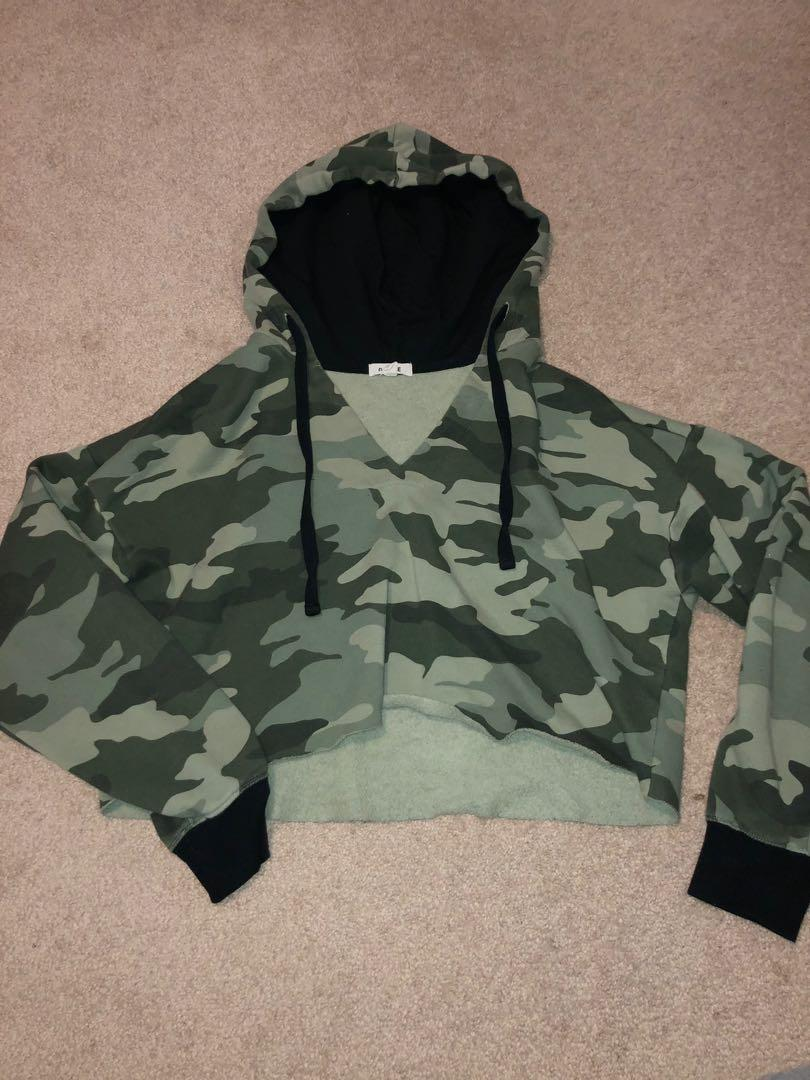 Cropped Camo Hoodie from Garage