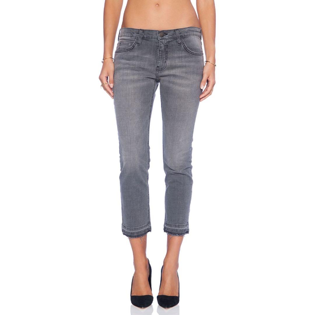 "Current/Elliott ""THE CROPPED STRAIGHT"" Jeans"