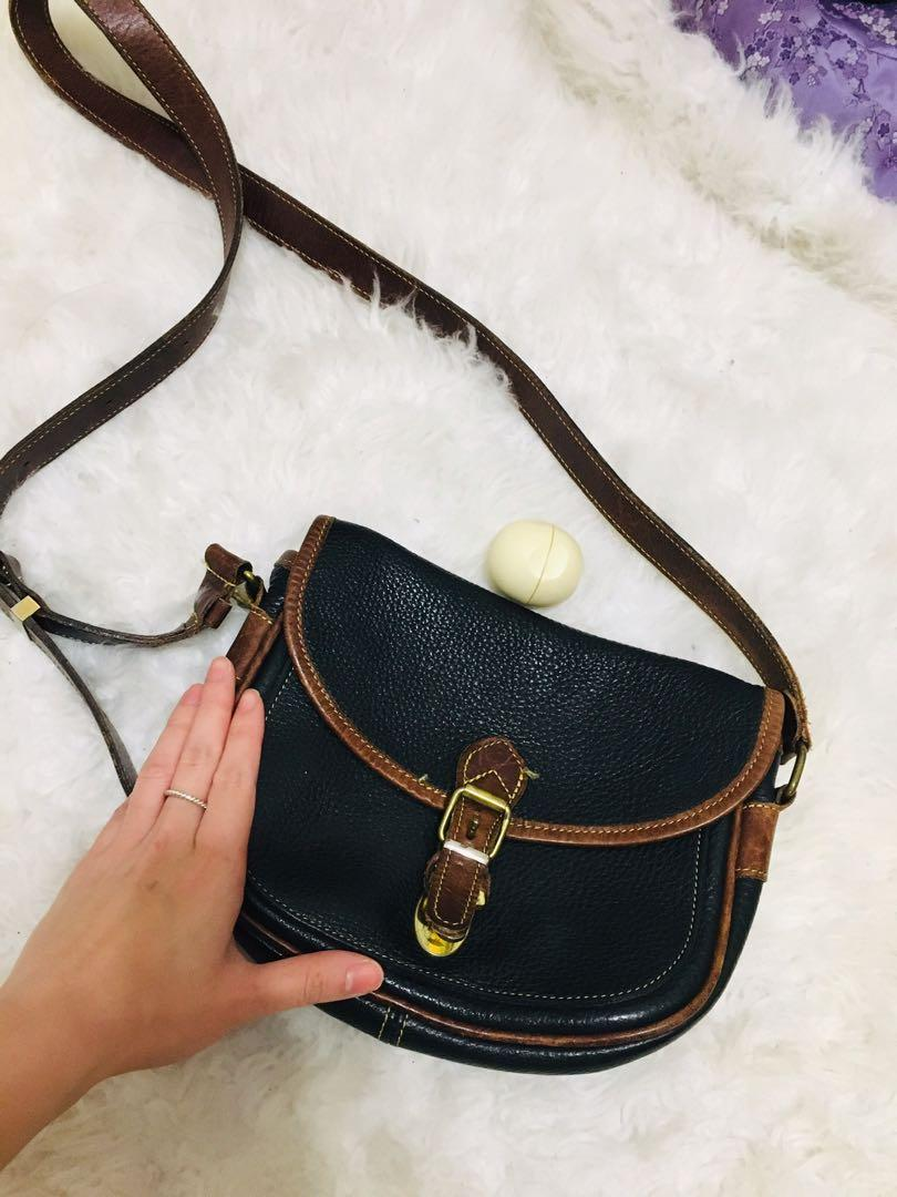 Genuine roots leather cross body