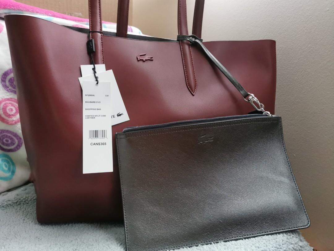 LACOSTE TOTE REVERSIBLE BAG WITH WRISTLET