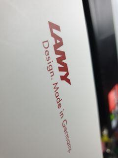 LAMY SAFARI 狩獵者系列 RED&WHITE 限量鋼筆禮盒筆尖-F(白桿紅夾)