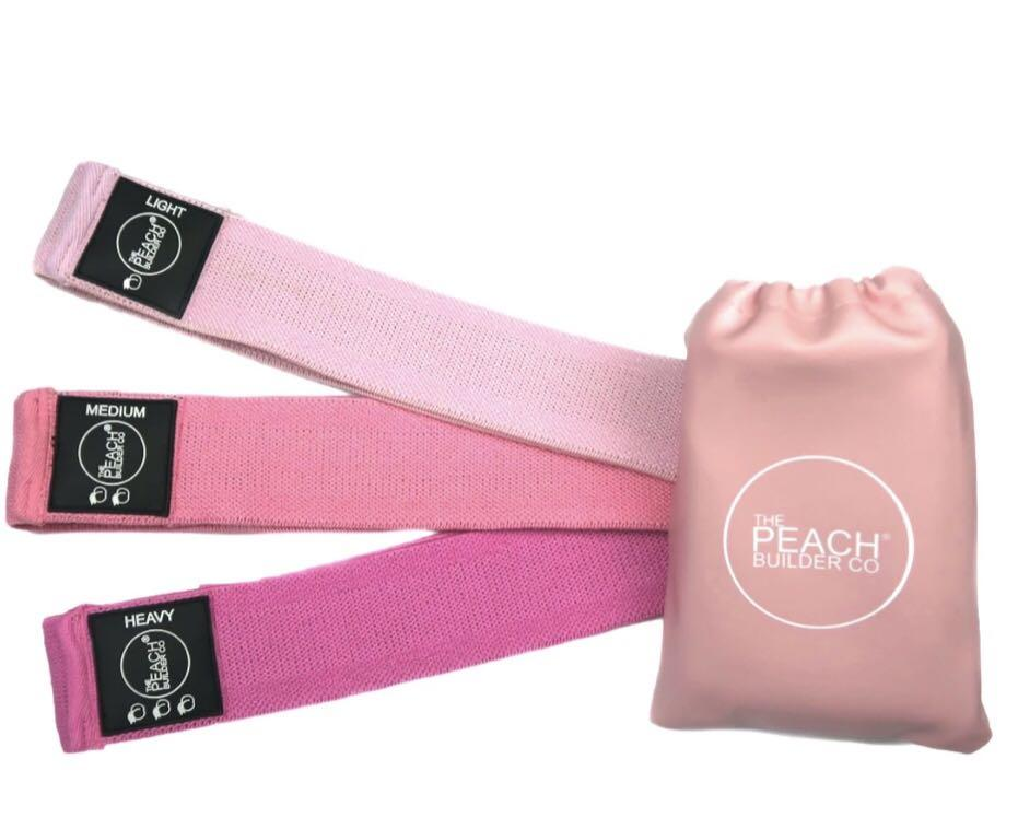 Peach Builder Fabric Resistance Bands