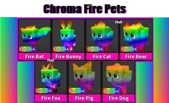 Roblox Chroma Fire Pet SET MM2 Murder Mystery 2 ALL