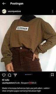 Sweater reogram thrift