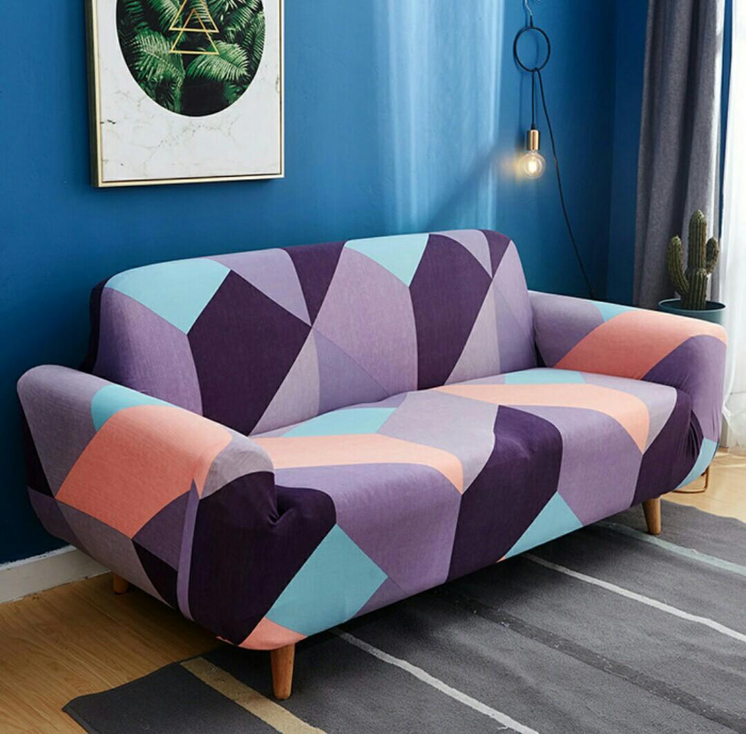Terlaris Cover Sofa Sarung Sofa Elastis Rubicpurple