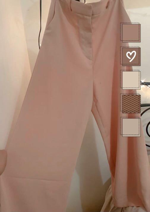 TOPSHOP Pink Wide Leg Pants (US 6)