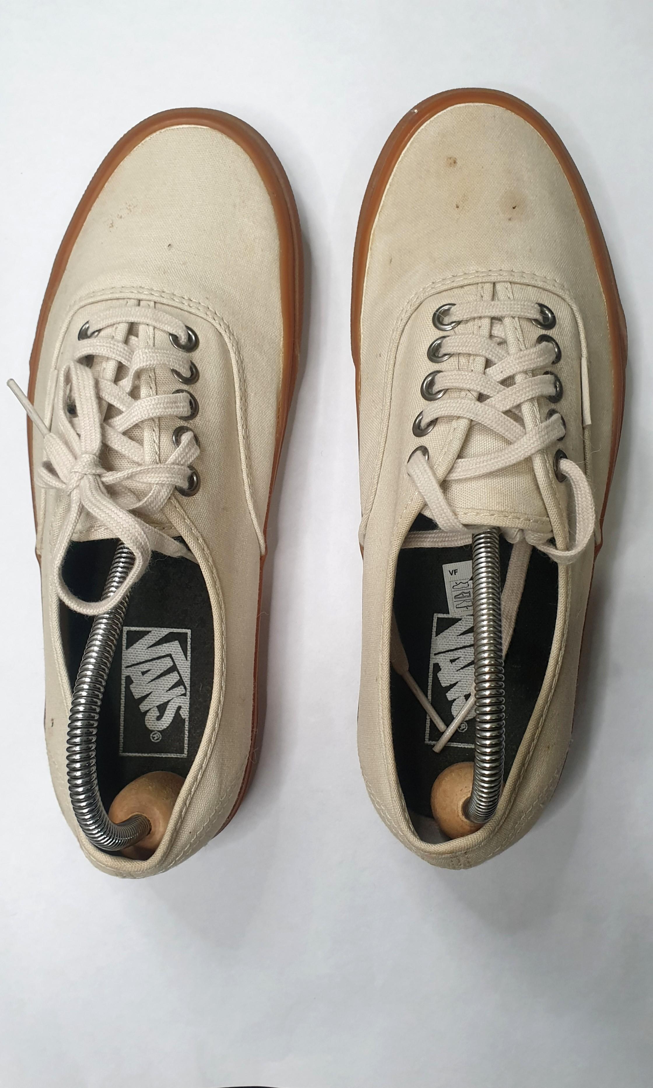 Vans authentic old skool cream and gum sole, Men's Fashion ...