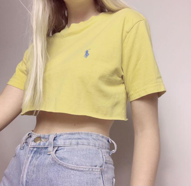 Vintage Yellow Cropped Ralph Lauren Top