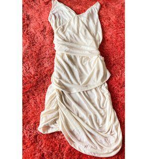 White goddess dress- dress putih goddess