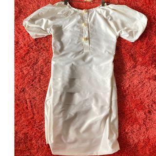 ZARA WHITE PEARL DRESS - dress zara putih