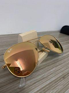雷朋 Rayban 金框橘色鏡面鏡片 58mm