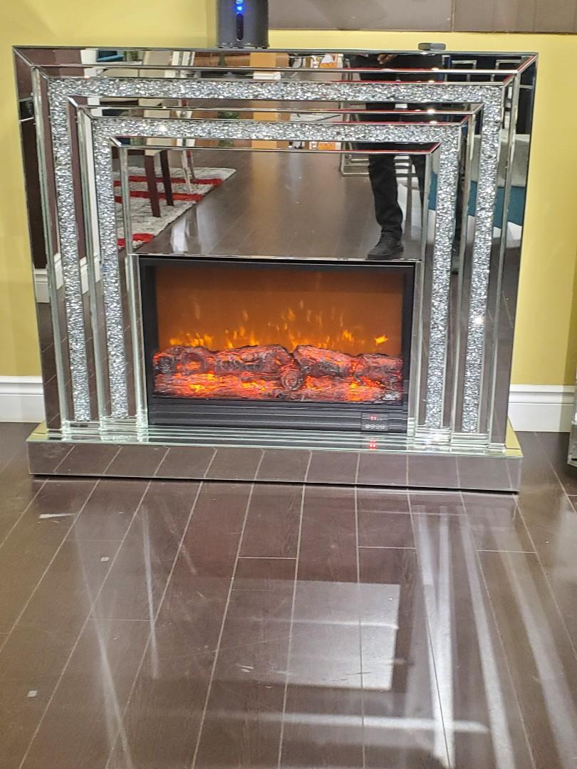 Bedazzled Electric Fireplace