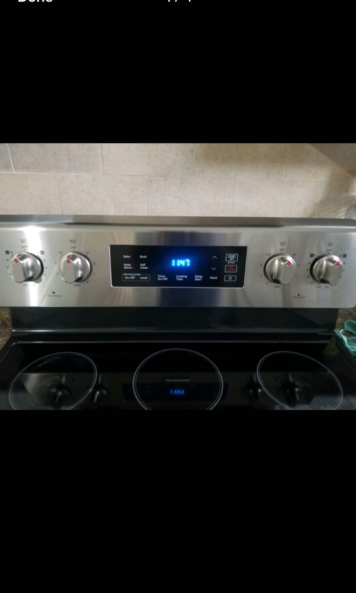Brand new Samsung fridge and stove