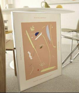 Canvas poster with silver frame