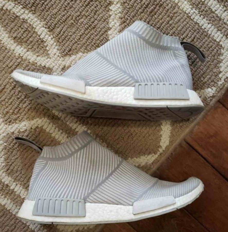 EUC men's Adidas nmd city grey sock shoes 10.5
