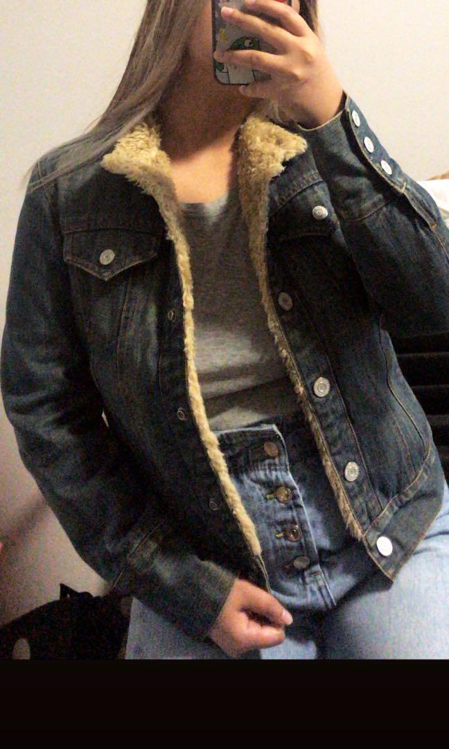 GAP sherpa jean jacket