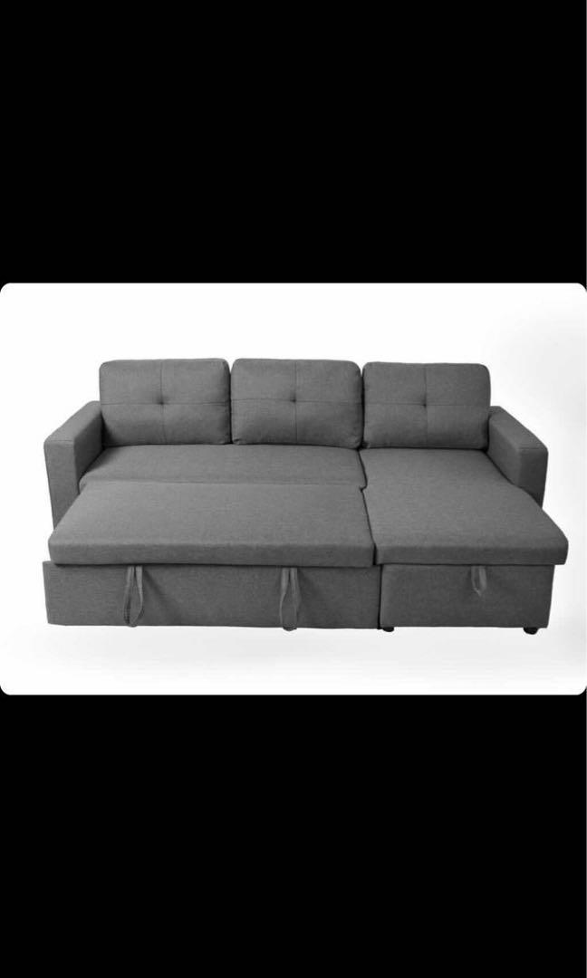 Grey Fabric Sectional Sofa Only $549 No Tax