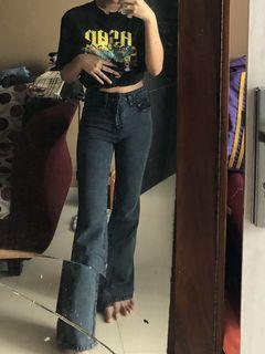 High-Waisted Jeans Cutbray JINISO