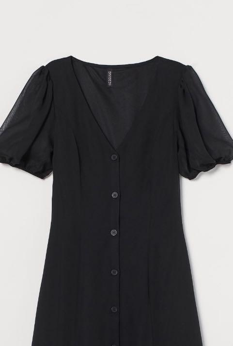 H&M NWT black midi dress