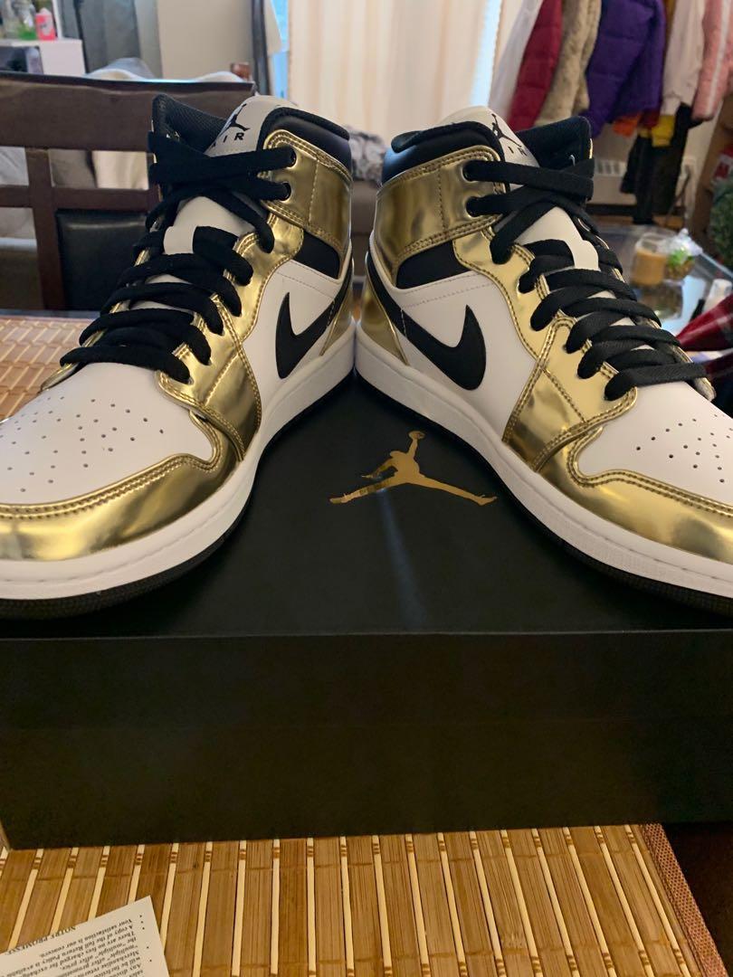 Jordan 1 Mid SE Gold Size 10