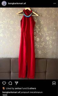 Jumpsuit red / jumpsuit merah