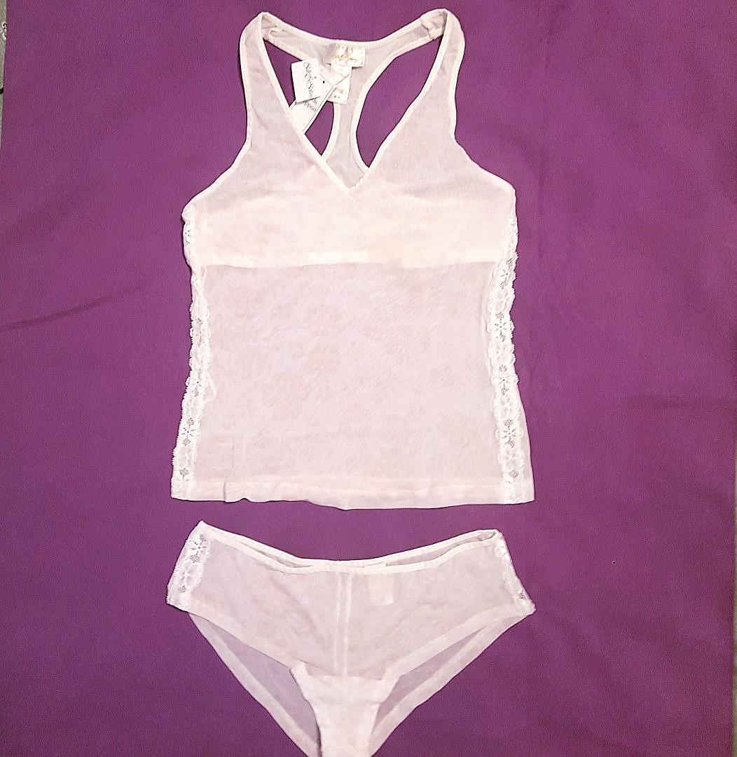 FREE SHIPPING! NEW  Semi sheer cami nighty pj set