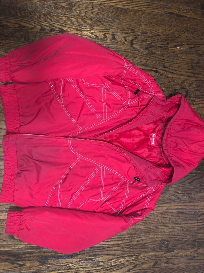 Supreme red winter jacket