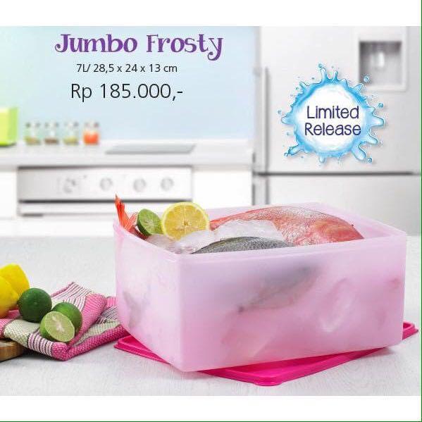Tupperware jumbo frosty sheer lychee pink frosting festive stor n serve