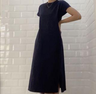 UNIQLO NAVY TSHIRT DRESS