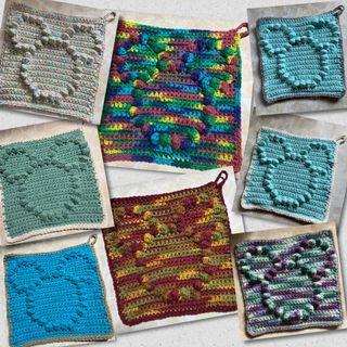 Crochet dish cloth / wash cloth Mickey inspired