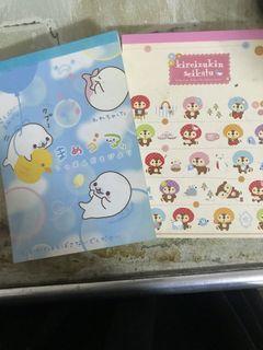 日系卡通圖案信紙 兩本一起賣