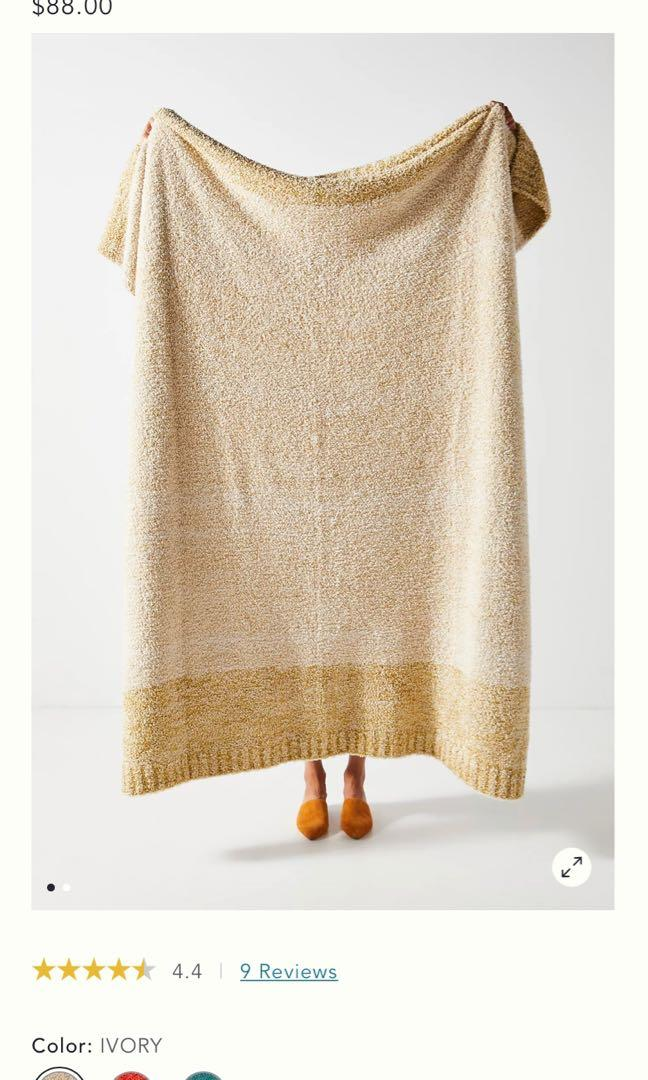 Anthropologie Plush Throw