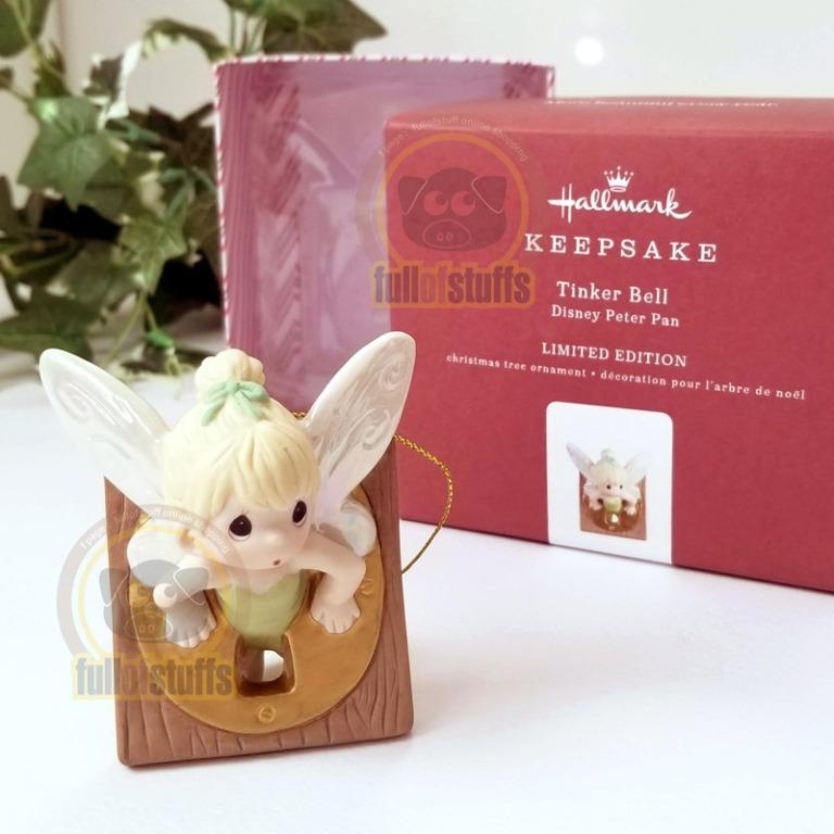 BNIB Hallmark Disney Precious Moments Peter Tinker Bell Ornament