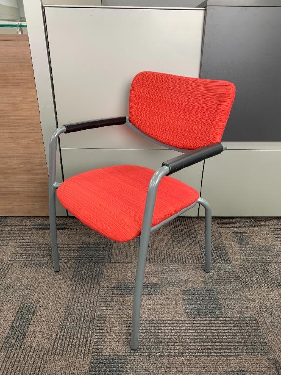 Haworth Zody Guest Chair in Red
