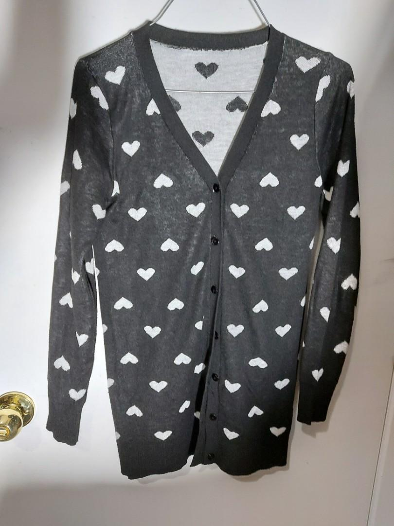 HEART PATTERN CARDIGAN -LARGE