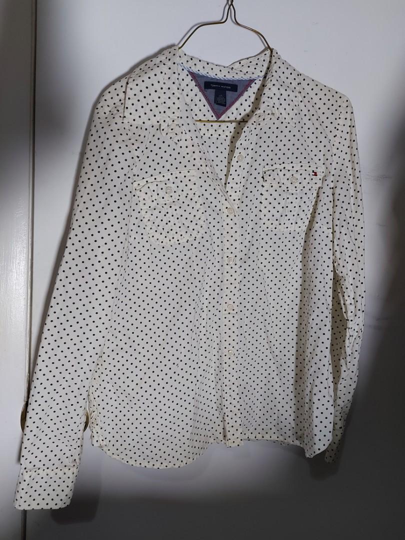 Tommy Hilfiger polka dot shirt- Large