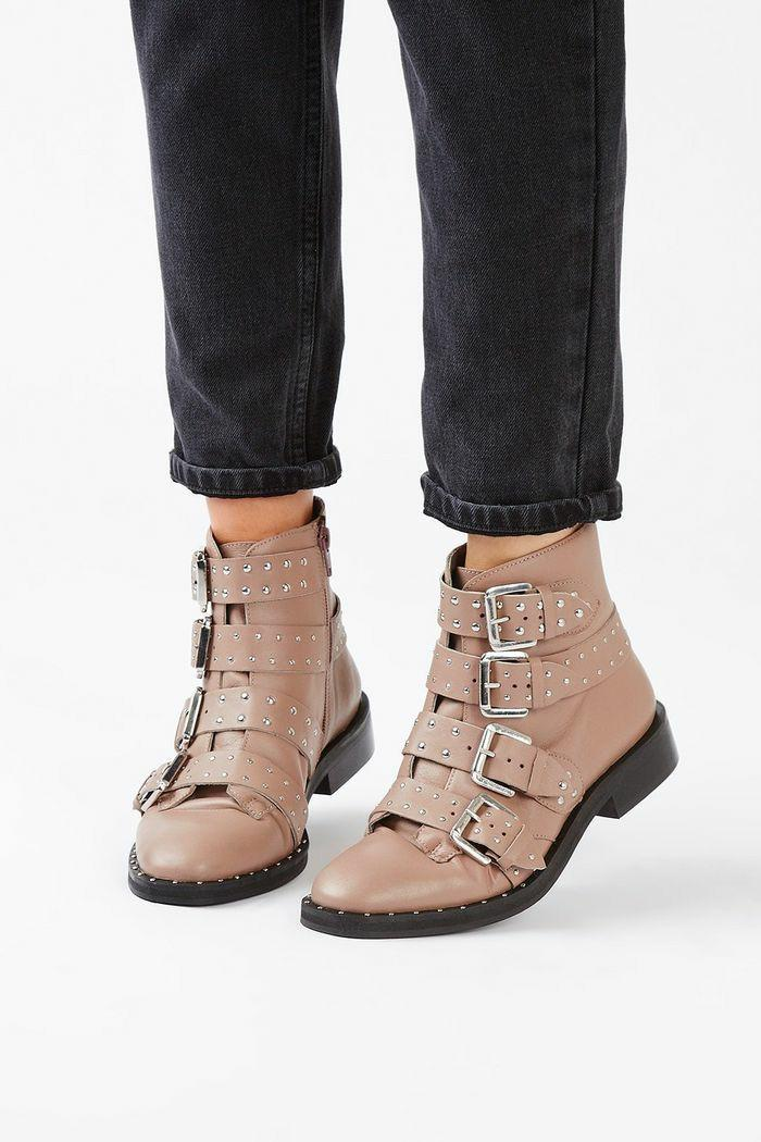Topshop leather ankle boots