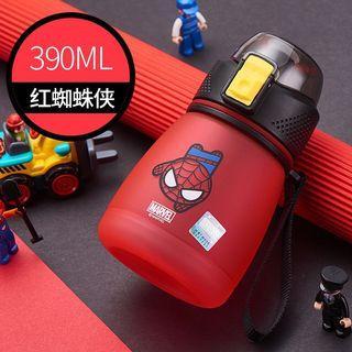 米妮、蜘蛛人、美國隊長-兒童水壺390ml(共3款)
