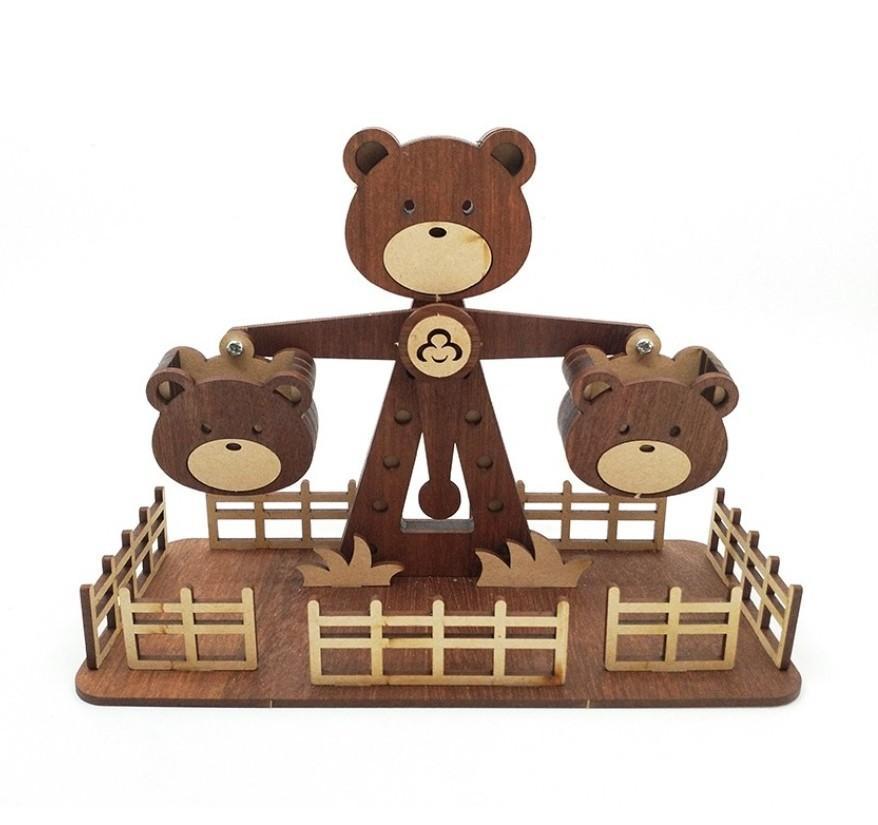 益智拼板,小熊卷木天平