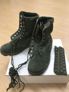 軍綠登山靴 高筒馬靴#換季