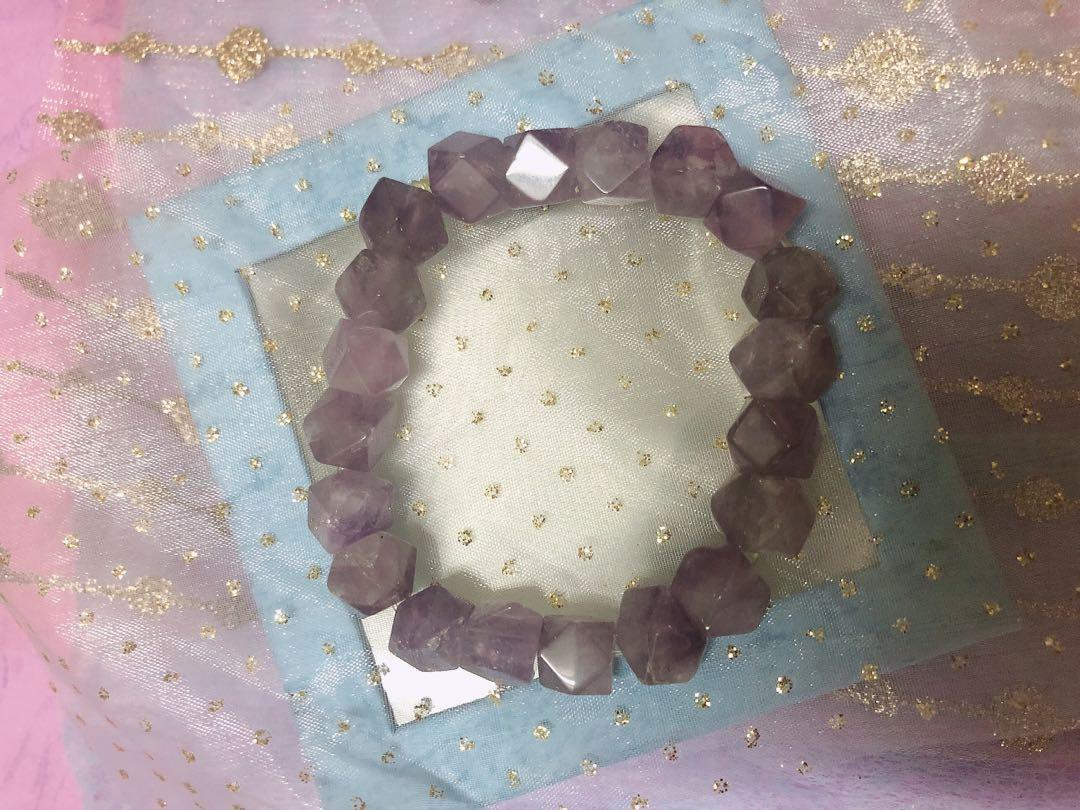 紫水晶 方塊紫水晶手珠 手串手珠