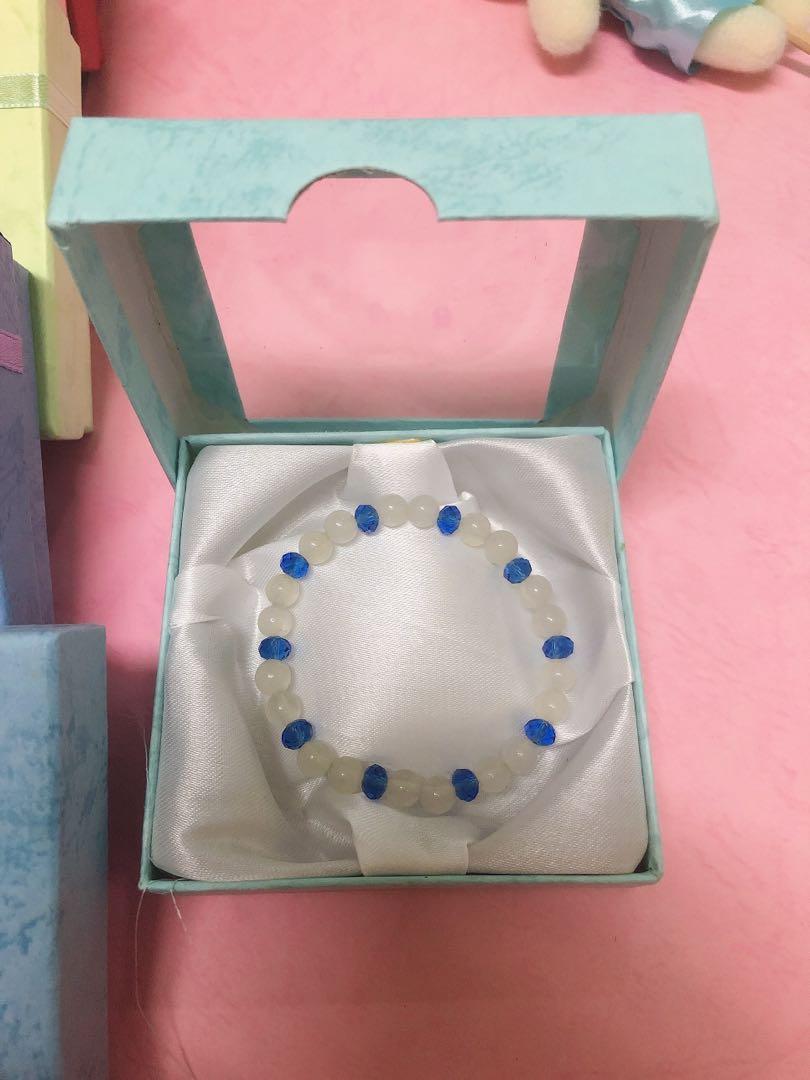 粉晶藍晶手珠手串 粉晶手珠 藍晶手珠
