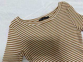 條紋 針織 親膚 內搭 上衣