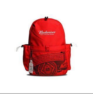 全新正版 AES聯名百威Budweiser 後背包 黃鴻升 鬼哥紅色 現貨